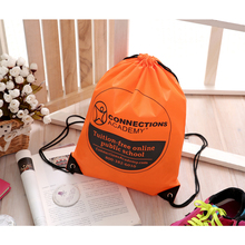 High Quality Nylon Polyester Foldable Waterproof Drawstring Bag Backpack
