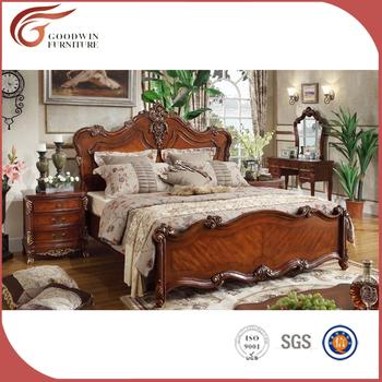 Furniture India Vintage Wood Bed Bedroom Set A48