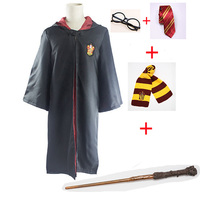 Kids Adult Cape Cloak Gryffindor Slytherin Ravenclaw Hufflepuff Robe Cosplay Costumes for Harris Potter Suit Cosplay Clothes