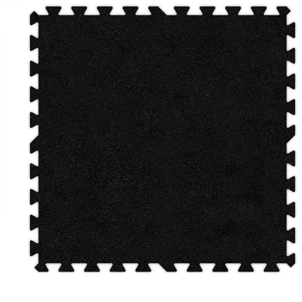 Alessco EVA Foam Rubber Interlocking Premium Soft Carpets 10' x 10' Set Black