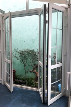 Small Acrylic Shower PVC Partition Interior Folding Door