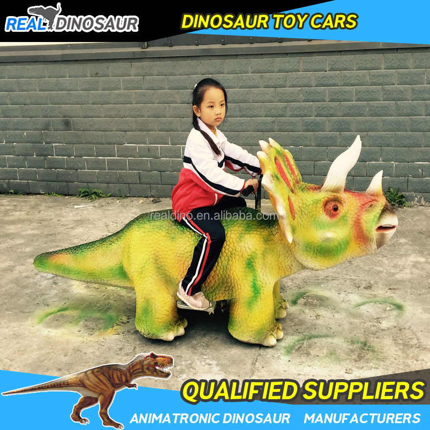 Kids amusement park funny rideable dinosaur game for kids play