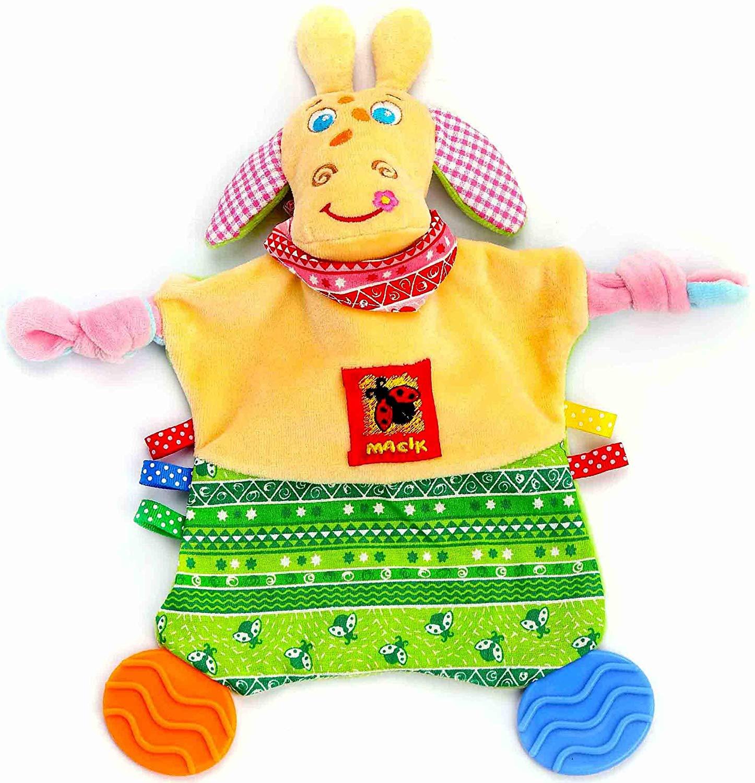 """Newborn Teething Toy Security Animal Blanket with Tags 12"""" - Newborn Toys - Security Blanket - Baby Teething Toys - Tag Toy for Babies Infants - Teething Blanket Boys Girls - Crinkle Blanket 0 3 6 mon"""
