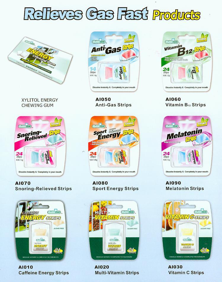 Fuwei Fresh Breath Strips Sugar Free Mints Strips