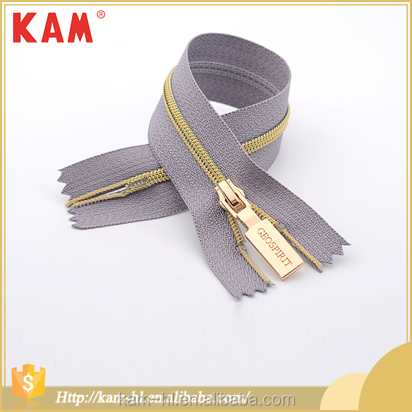 Clothing and accessories gray #3 zipper for jacket