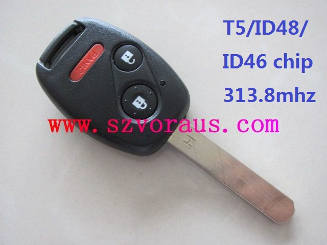 Ho 2+1 button remote key (1-7 generation)with T5/ID46 chip 313.8 mhz , auto remote key