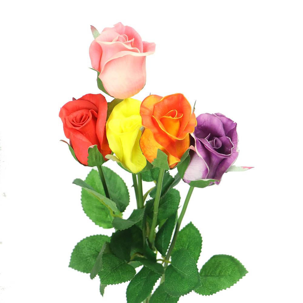 Wholesale Colorful Artificial Rose Flower Making For Wedding Decoration