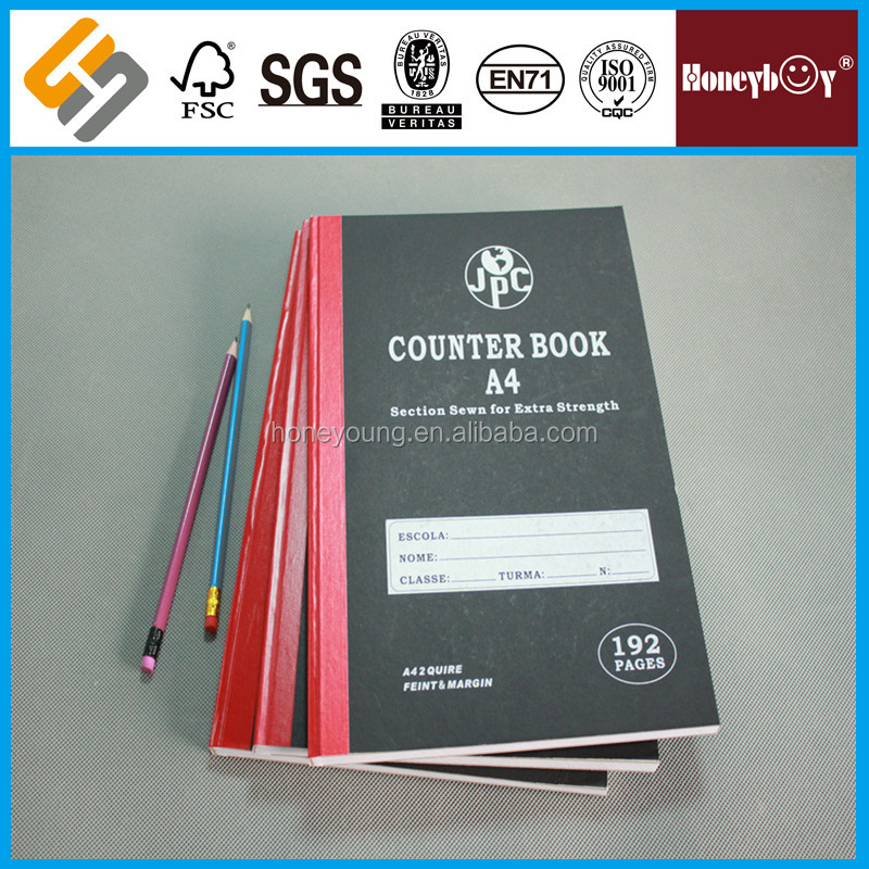 4 quires branded best products a4/fc counter book