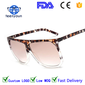 49424c24a1c 1645 New Big Frame Flat Top Women Sunglasses Fashion Superstar Brand  Designer Oversized Clear Gradient Sun
