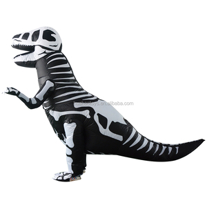 Halloween Carnival Party Inflatable T-rex Dinosaur Skeleton Dinosaur Inflatable Costumes Lyjenny For Wholesale