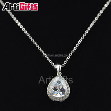 White Gold Plate diamond fashion necklace free samples