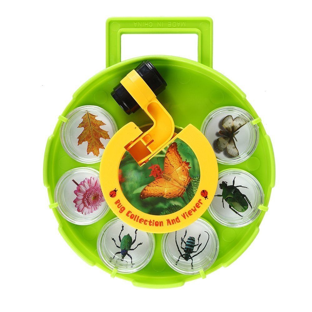 IMZ Bug Collection and Viewer Field Microscope, Rotating Disc Magnifier, Cartoon Amplification Experiment Tool, Six Cups (Color May Vary)