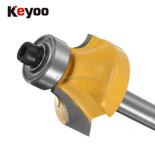 Keyoo Corner Rounding with 3/8 Inch Dia Ball Bearing Guide Router Bits