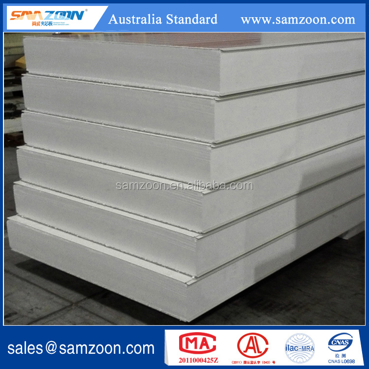 Metal faced Insulated Fireproof polystyrene EPS sandwich panel for wall and ceiling board