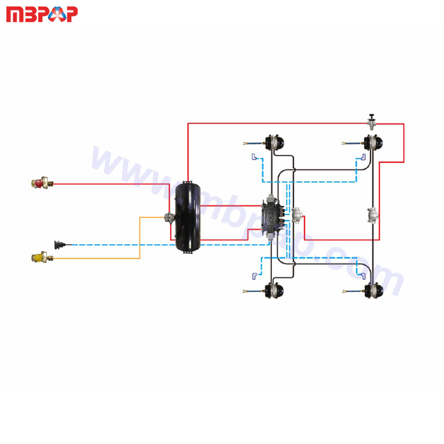 high quality cheapest trailer air kes with ABS air ke system parts on