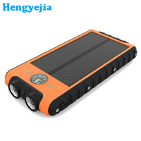 2017 Led Torch Waterproof Keychains solar power bank 30000mah for outdoor sports