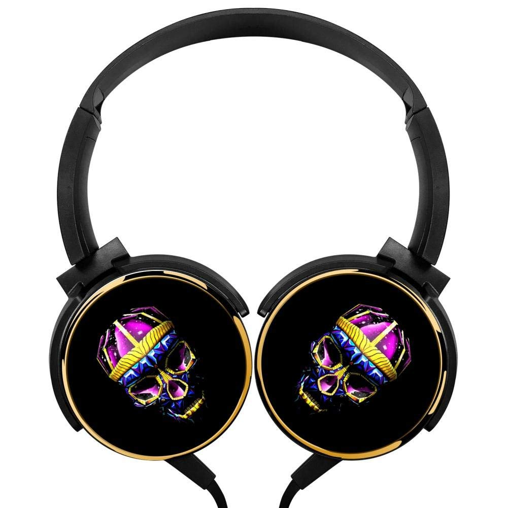 Xerjij Skull Wallpapers Wired Stereo Headset fashion Bass Headphones for Computers Mobile Devices