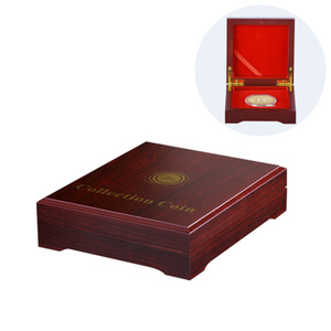 Top Luxury Design Display Box Wood antique Coin Boxes