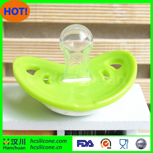Round shape baby nipple soft silicone baby pacifier with cover