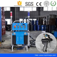 Manufacture in place spray foam insulation machine rental system