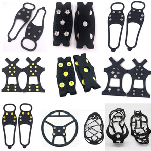 Crampons anti skid shoe covers stainless steel mountaineering snow claws Product silicone ice climbing