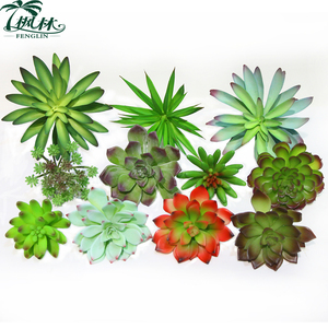 High quality PVC mini fake succulent plant various indoor decorative artificial succulent plant