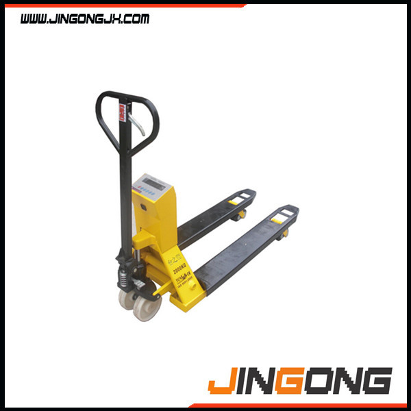 550*1150mm nylon wheel 2000kg Weigh scale hydraulic hand pallet jack hand with printer