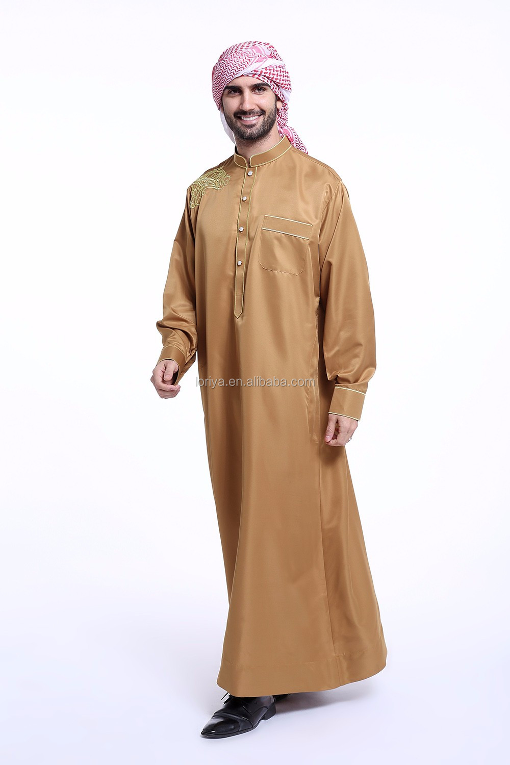 New fancy stylish muslim thobe Arabian robe jubah abaya islamic kantan kimono maxi dubai abaya for men