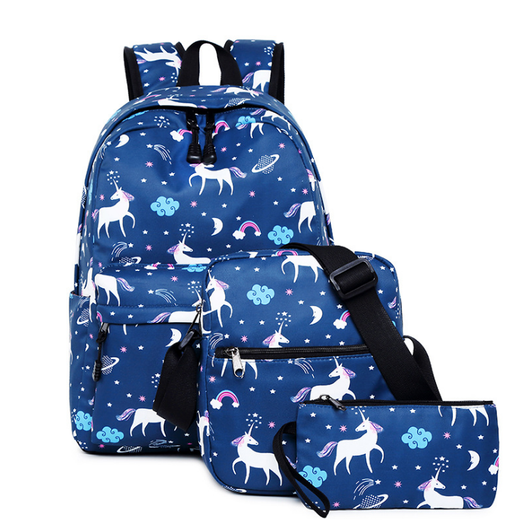 Fashionable school unicorn backpack smart cute unicorn bagpack