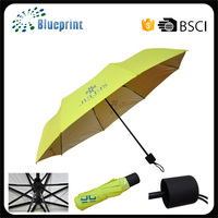 Promotional custom printing windproof 21inch 3 folding umbrellas