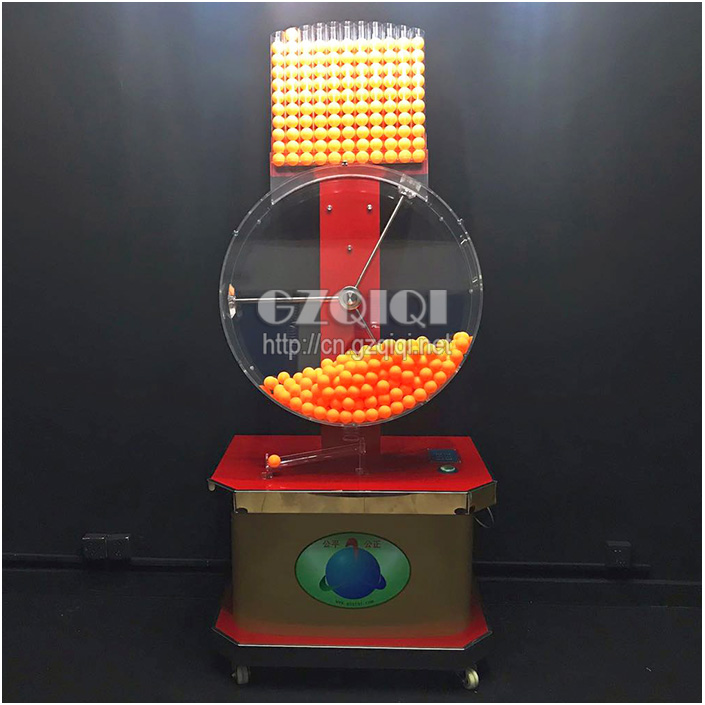 high-capacity mechanical mixing lotto machine use in bid or auction