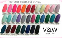 No wipe rubber one step color gel matt effect polish uv gel nail polish