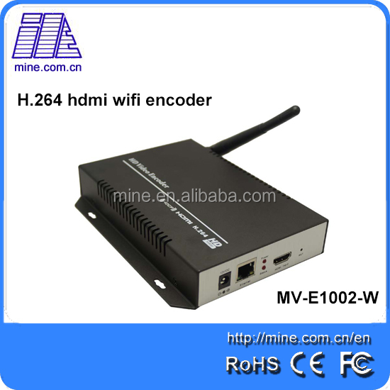 TV digitale Attrezzature CATV headend Carta Mpeg4 H.264 Encoder Encoder Hardware Video H264 WIFI Server di Streaming IPTV