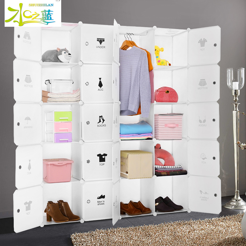 2017 cheap fashion foldable wardrobes bedroom organiser