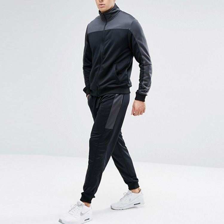 2018 new style fashion bulk wholesale polyester customized slim fit men tracksuits