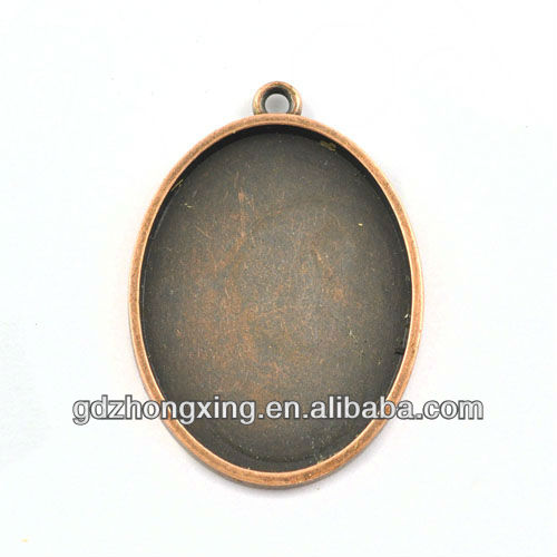 wholesale necklace pendant frame,Antique Copper Bezel Cabochon Settings-A19948