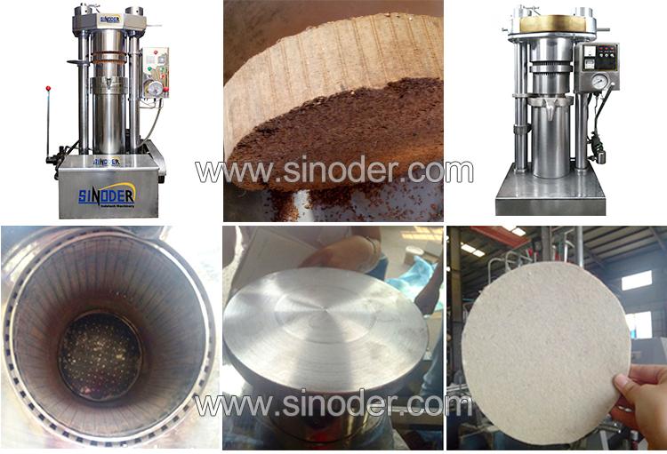 Machine d'extraction d'huile hydraulique de sésame et d'amande de lin avec filtre à huile