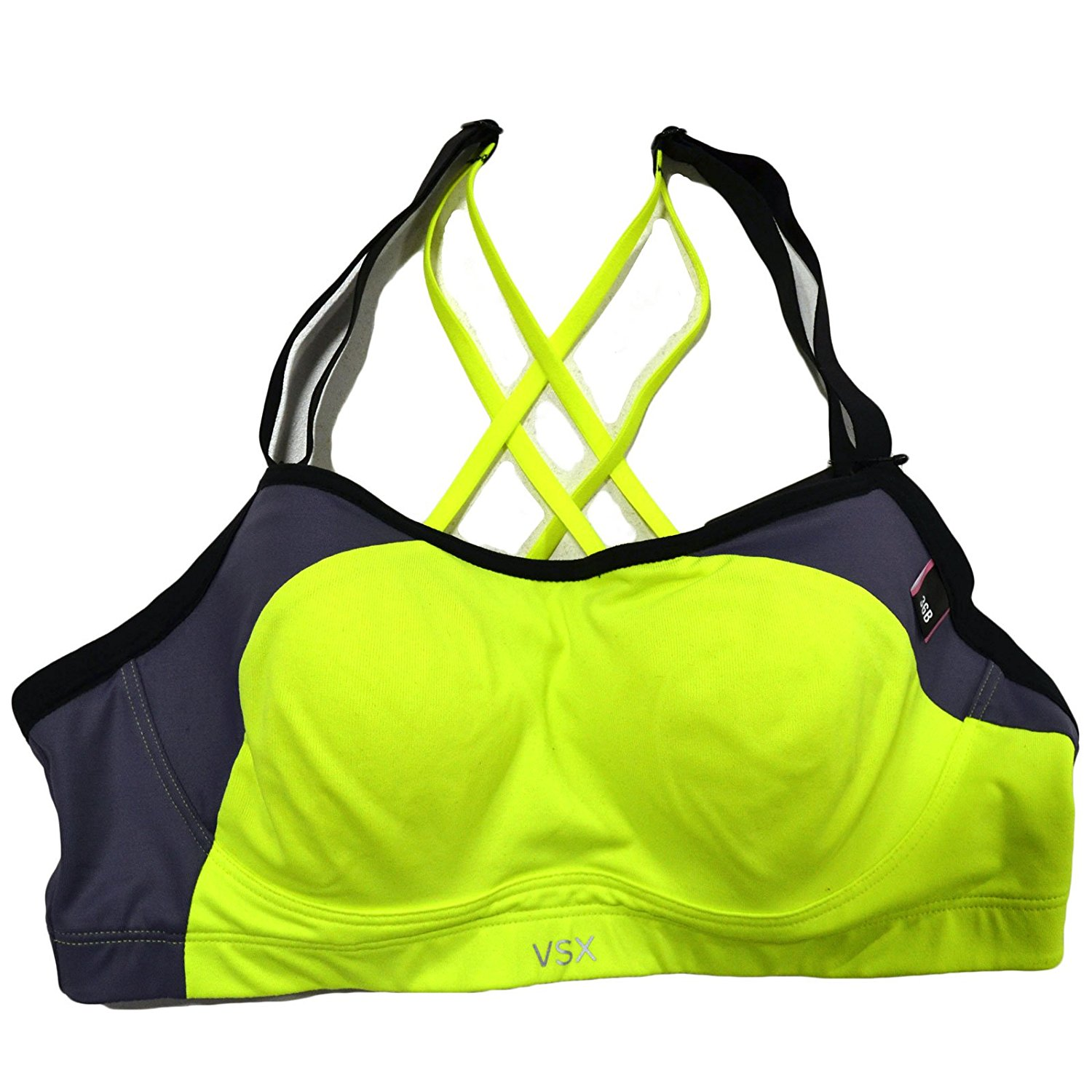 085bb2b2a5 Get Quotations · Victoria s Secret VSX The Angel Sports Bra in Neon Yellow