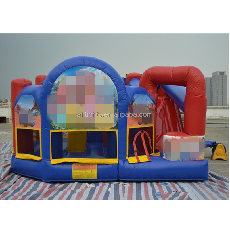 4m long inflatable princess combo castle made by Chian factory