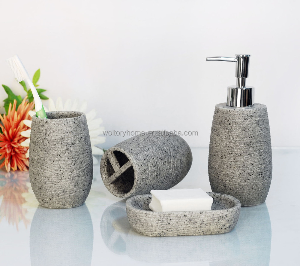 Artificial Stone Bathroom Bath Accessories Set/natural Stone Bathroom  Accessories