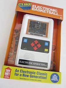 ELECTRONIC BASKETBALL 1970's retro mattel Classic handheld travel video game