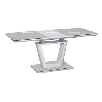 Comedor De Diseño De Vidrio Templado Extensible Mesa Moderna - Buy Mesa De  Comedor Extensible,Mesa De Comedor De Vidrio Templado,Diseño De Mesa ...