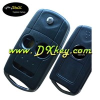 Lowest price car key case with HON66 key blade key fob 2+1 button flip key shell