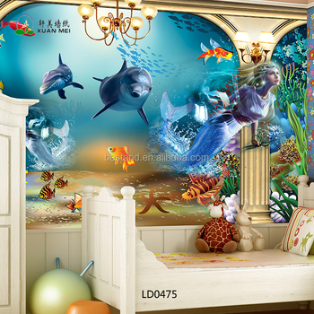 LD0475 2016 New Design 3D Wallpaper Kids Room Wallpaper