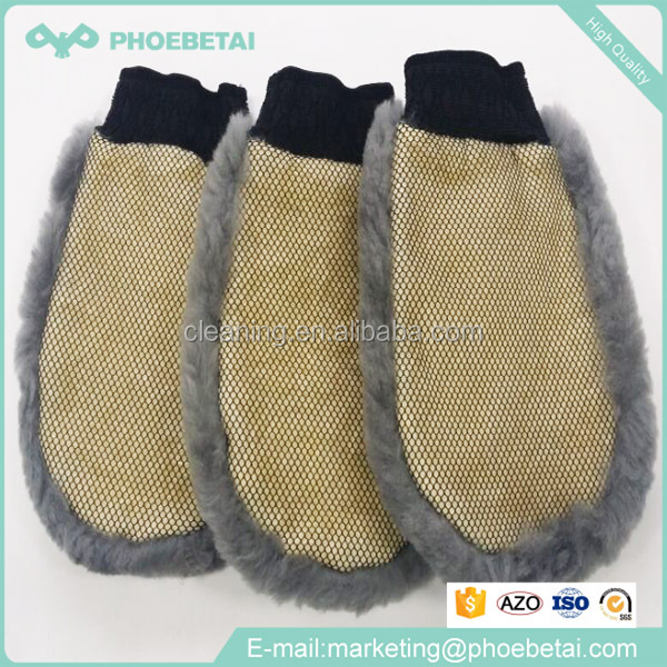 premium Car natral genuine wool wash mitt