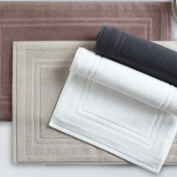 100% cotton luxury hot selling customized bathroom jacquard bath mats