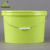 Printed 15L oval plastic pail with lid and handle for fish
