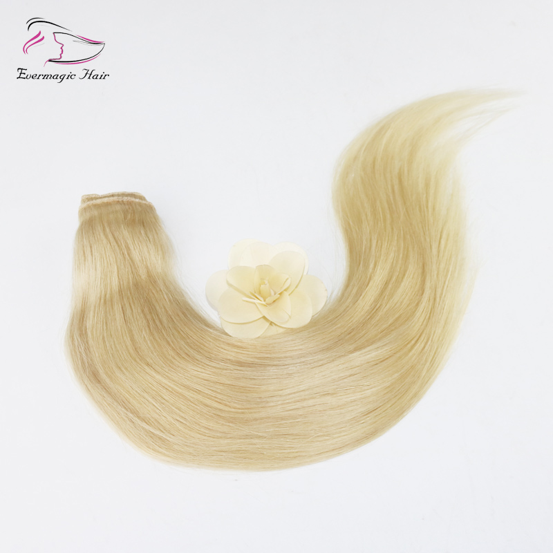 Straight 34 Full Head Synthetic Hair Extensions 5 Clips Clip On