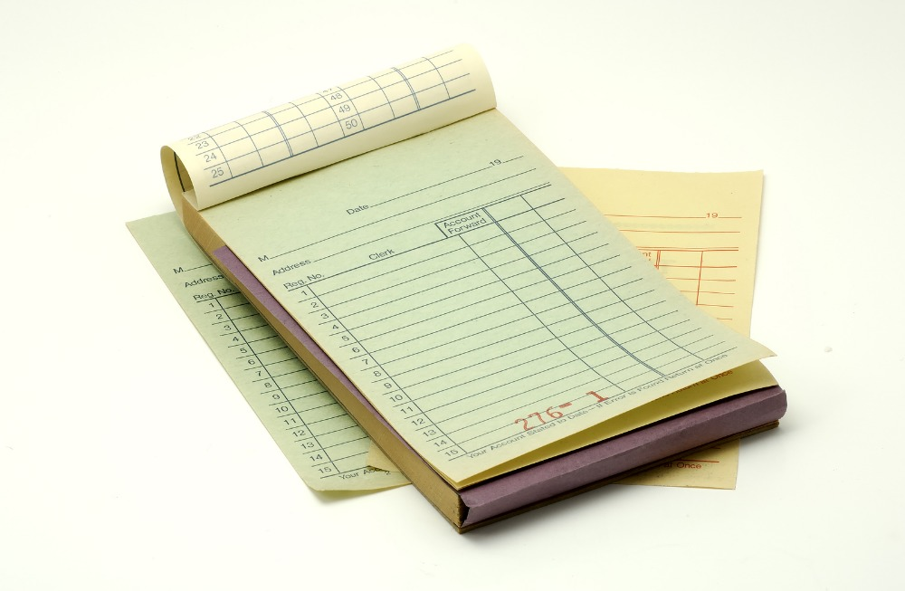 Custom note paper products for restaurants