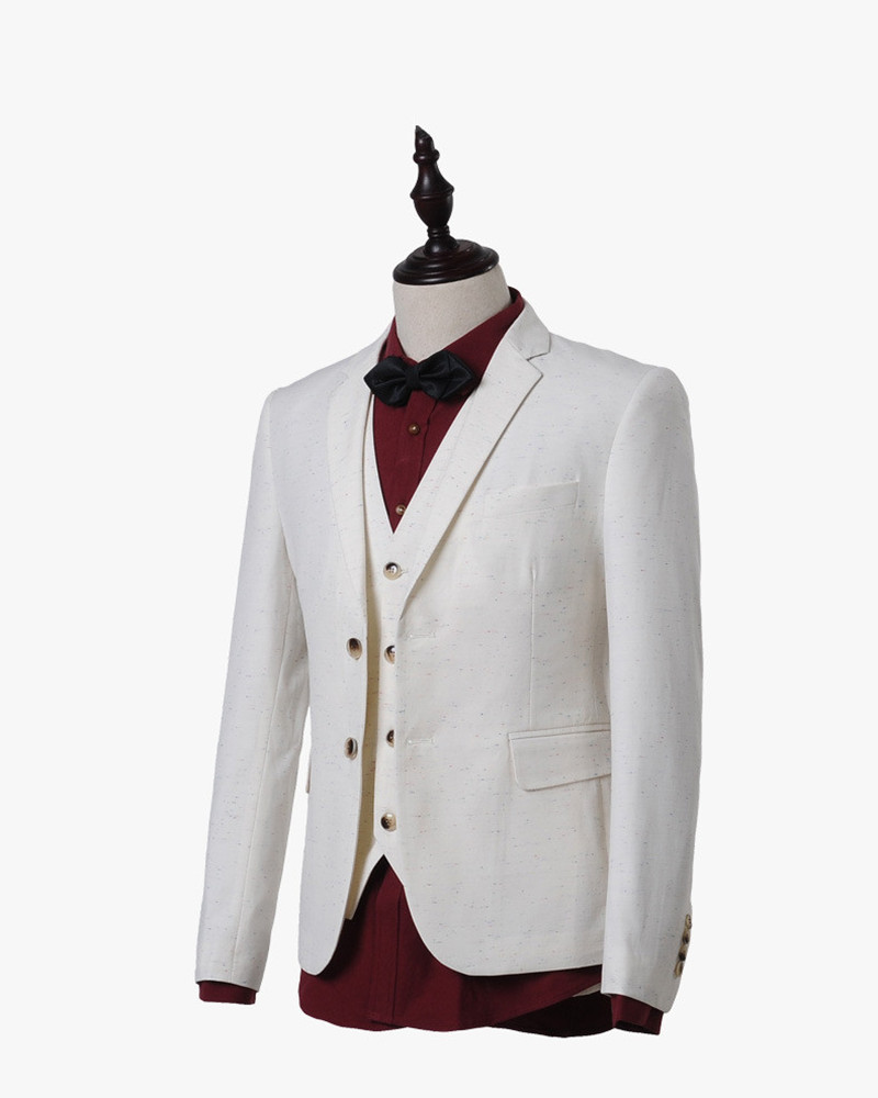 2015 terno white tuxedos party slim fit homme men suits with pants marriage wedding groom blazer 3 piece jacket+pants+vest